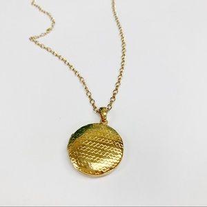 J. Crew Gold Tone Locket Necklace